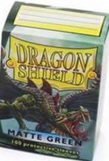 DS - Standard Sleeves Dragon Shield Standard Sleeves - Matte Green (100 Sleeves)