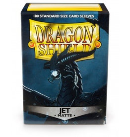 DS - Standard Sleeves Dragon Shield Standard Sleeves - Matte Jet (100 Sleeves)