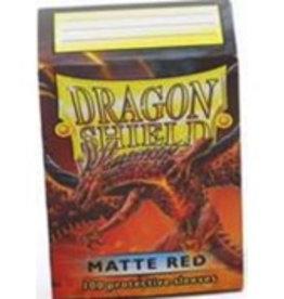 DS - Standard Sleeves Dragon Shield Standard Sleeves - Matte Red (100 Sleeves)