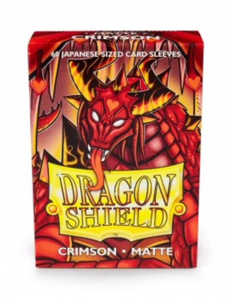 DS - Small Sleeves Dragon Shield Small Sleeves - Japanese Matte Crimson (60 Sleeves)
