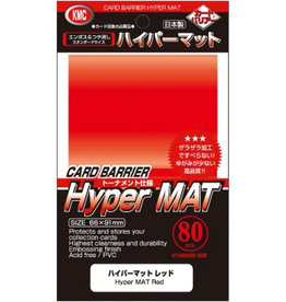 KMC - Standard Sleeves KMC Standard Sleeves - Hyper Mat Red (80 Sleeves)
