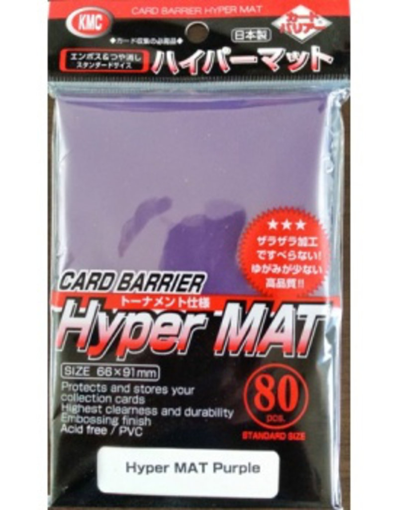KMC - Standard Sleeves KMC Standard Sleeves - Hyper Mat Purple (80 Sleeves)