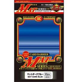 KMC - Standard Sleeves KMC Standard Sleeves - Mat Dark Blue (80 Sleeves)