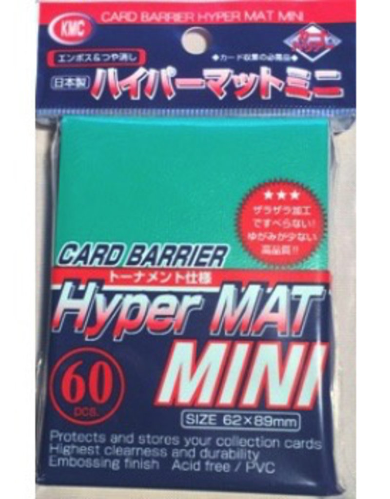 KMC - Small Sleeves KMC Small Sleeves - Hyper Mat Green (60 Sleeves)