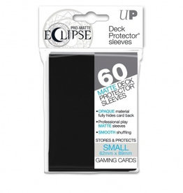 UP - Small Sleeves UP - Small Sleeves - PRO-Matte Eclipse - Black (60 Sleeves)
