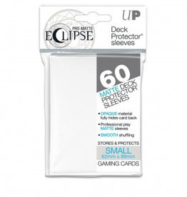 UP - Small Sleeves UP - Small Sleeves - PRO-Matte Eclipse - White (60 Sleeves)