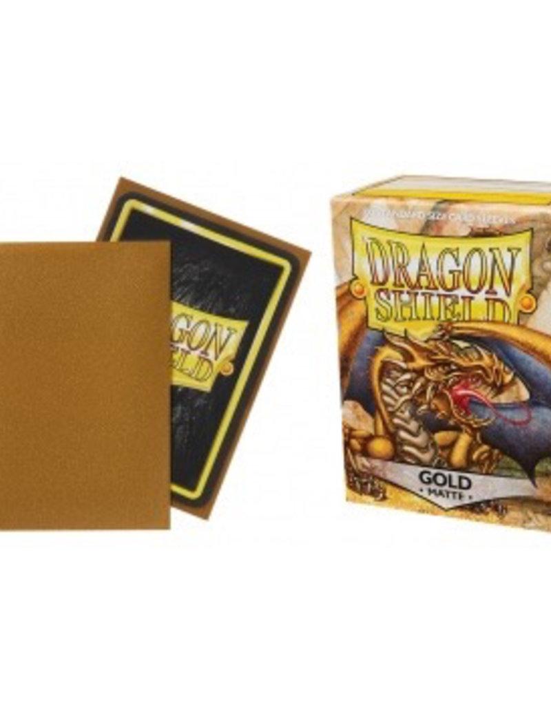 DS - Standard Sleeves Dragon Shield Standard Sleeves - Matte Gold (100 Sleeves)