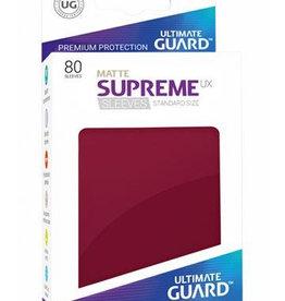 UG - Standard Sleeves Ultimate Guard Supreme UX Sleeves Standardgröße Größe Matt Burgundrot (80)