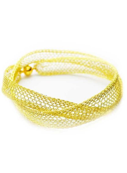 MILA Èt MILA CROSS BRACELET / SLEEK CHOKER - YELLOW GOLD
