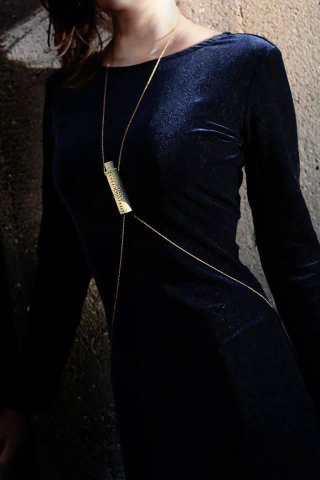 Rosa Hirn FESTIVAL-LIGHT NECKLACE CLEAR BLUE