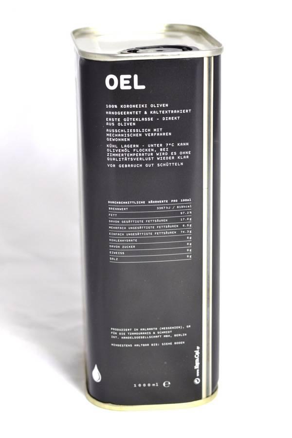 OEL Berlin Natives Olivenöl - 1l