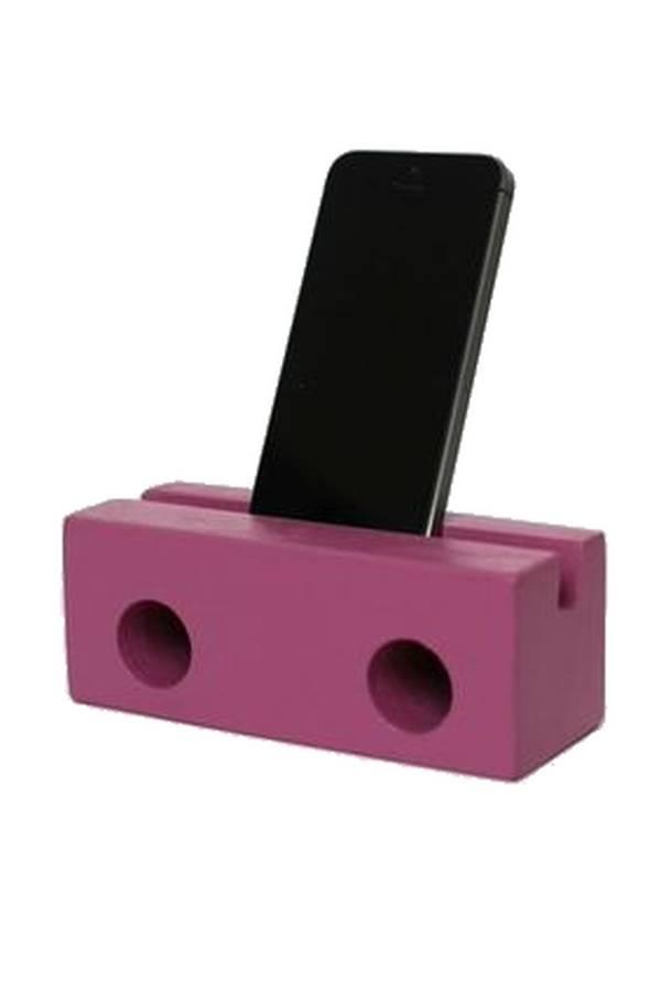 klotz berlin Holzlautsprecher fürs Iphone PINK
