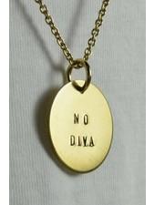 """fremdformat Halskette """"NO DIVA"""""""