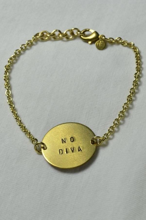 """fremdformat Armband """"NO DIVA"""""""
