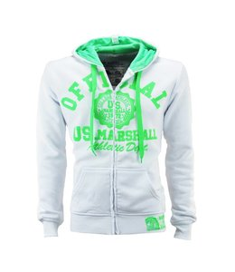 US Marshall Hooded Sweater met rits