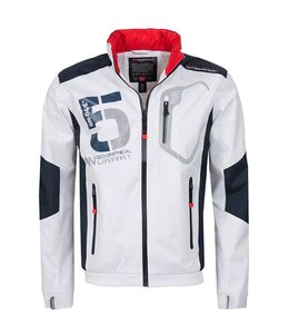 Geographical Norway Zomerjack  wit/navy