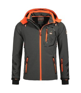 Geographical Norway Softshell Jacket Terouma D.Grey/Orange