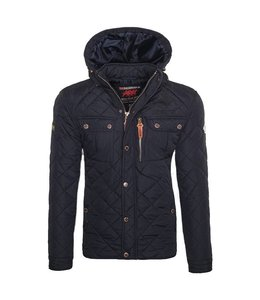 Geographical Norway Parka Hooded Navy
