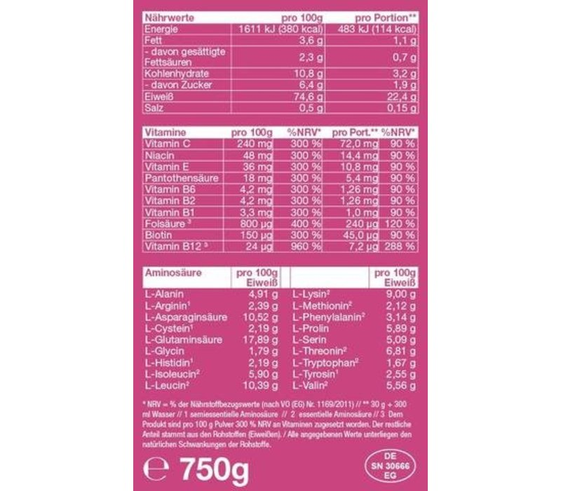 MISS MUSCLEGYM WHEY PROTEIN, 750g