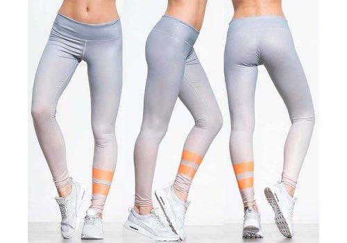 JUNGUNDEDEL Leggings OMAHA - Grey / Orange