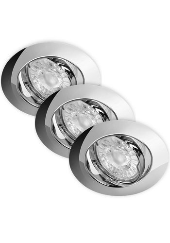 Energetic LED Inbouwspots Dimbaar Murillo 3 Pack 5,5W - Chrome
