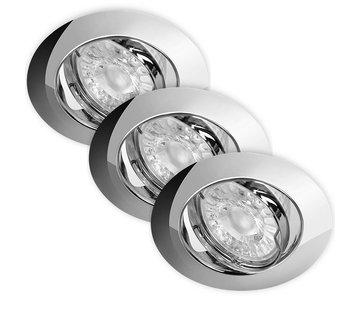 Energetic LED Inbouwspots Dimbaar Murillo 3 Pack 5,5W - Chrome