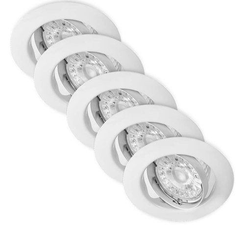 Lightexpert.nl LED Inbouwspots Murillo 5 Pack 4,7W - Wit