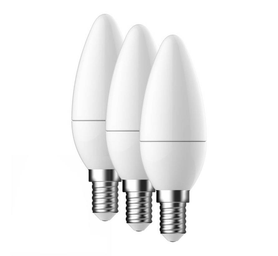 E14 LED Lamp Energetic Kaars 3 Pack - 3.6W - vervangt 25W