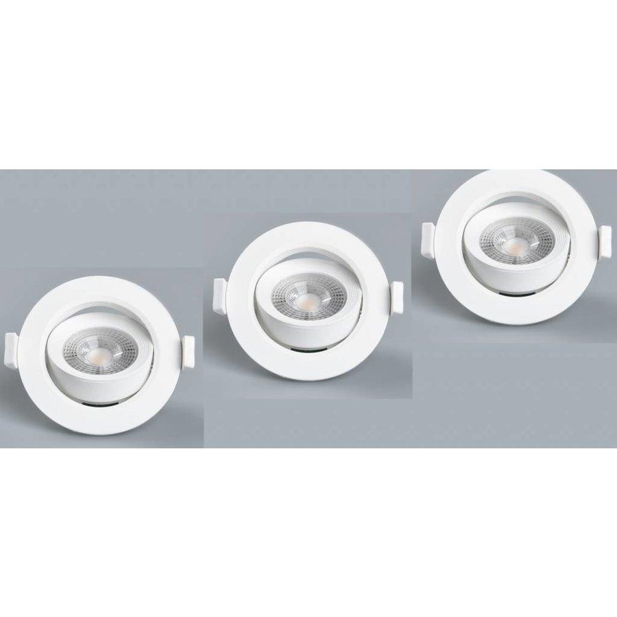 LED Inbouwspot 5W - 90 MM - Wit 3 Pack
