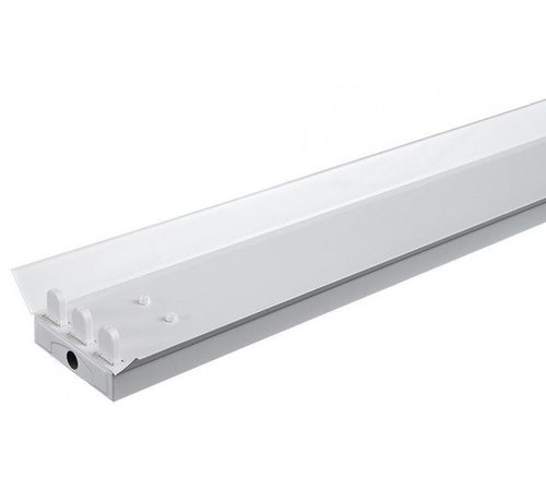 Lightexpert.nl Driedubbele LED TL Armatuur Reflector - IP22 - 150CM