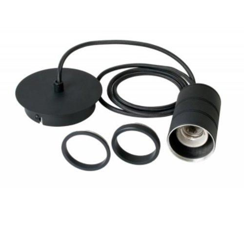 Calex Calex Giant Cord Set - 1 x E27 - Zwart