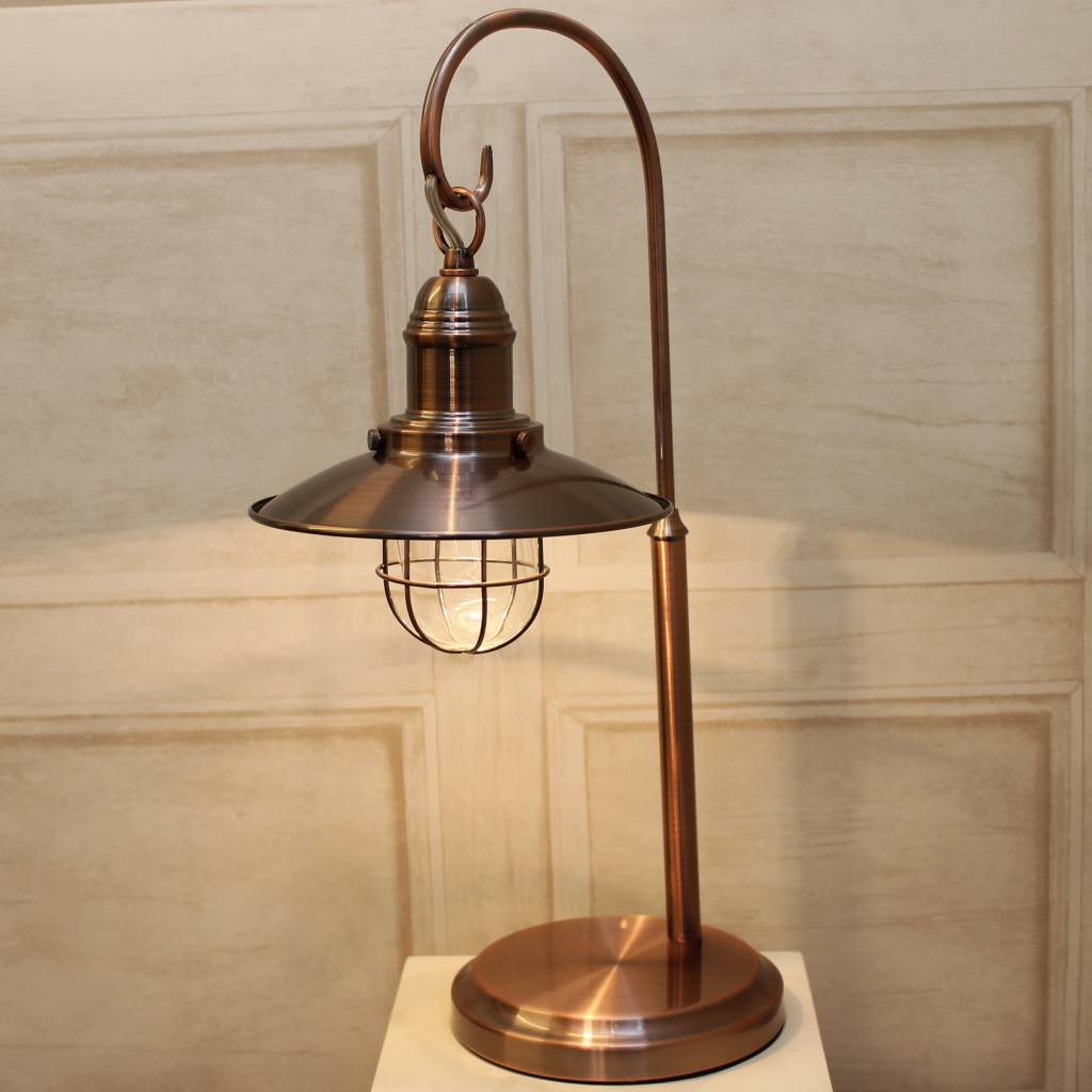 Fisherman S Table Lamp Antique Copper Lightbox