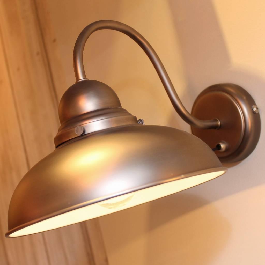 Retro Antique Chrome Wall Light - Lightbox
