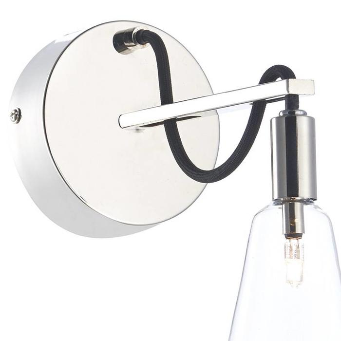Wall Light With Cable : Industrial Cable Wall Light -Polished Nickel - Lightbox