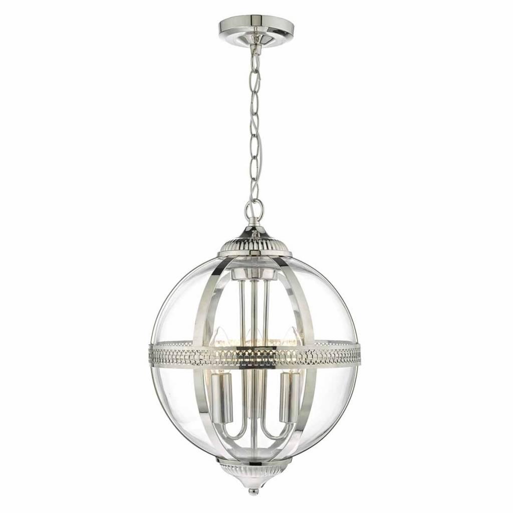 Heritage Polished Nickel Amp Glass Globe Lightbox