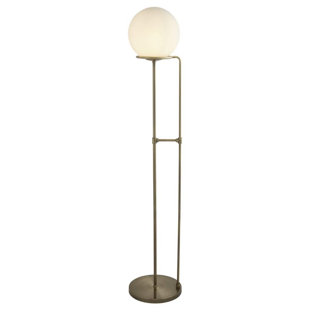 Kloden opal globe floor lamp antique brass lightbox kloden opal globe floor lamp antique brass aloadofball Choice Image