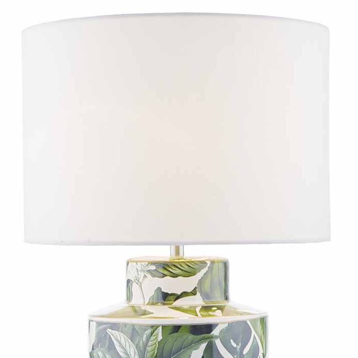 Pedro ceramic table lamp with green house plant print lightbox pedro ceramic table lamp with green house plant print aloadofball Images