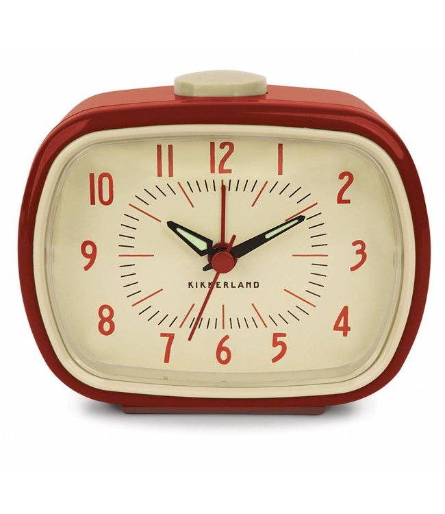 Kikkerland Retro alarm wekker rood