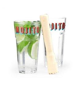 Kikkerland Mojito set glazen en muddler