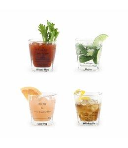 Kikkerland Cocktail glaasjes