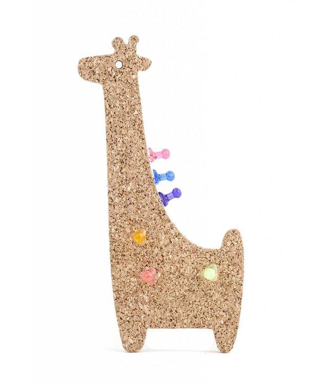 Kikkerland Kurken magneetbord Giraf