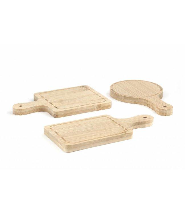 Kikkerland Mini tapas plankjes 6st