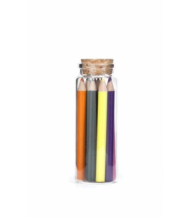 Kikkerland Set kleurpotloden in fles