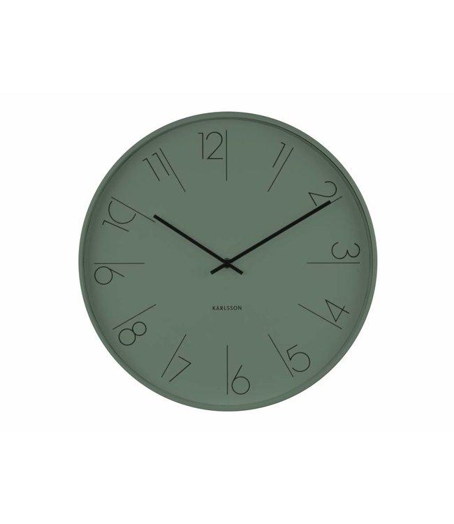 Karlsson Wandklok Elegant groen 40 cm
