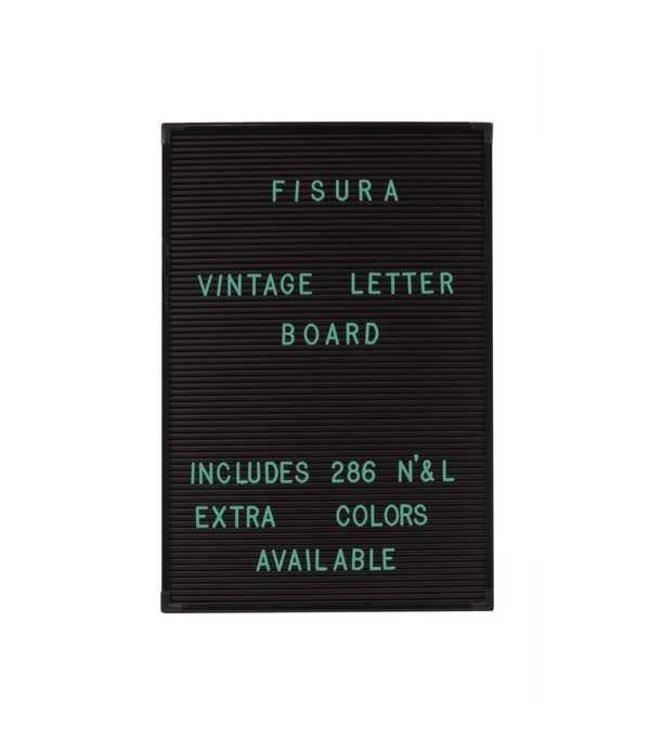 Fisura Mint groene letters voor letterbord
