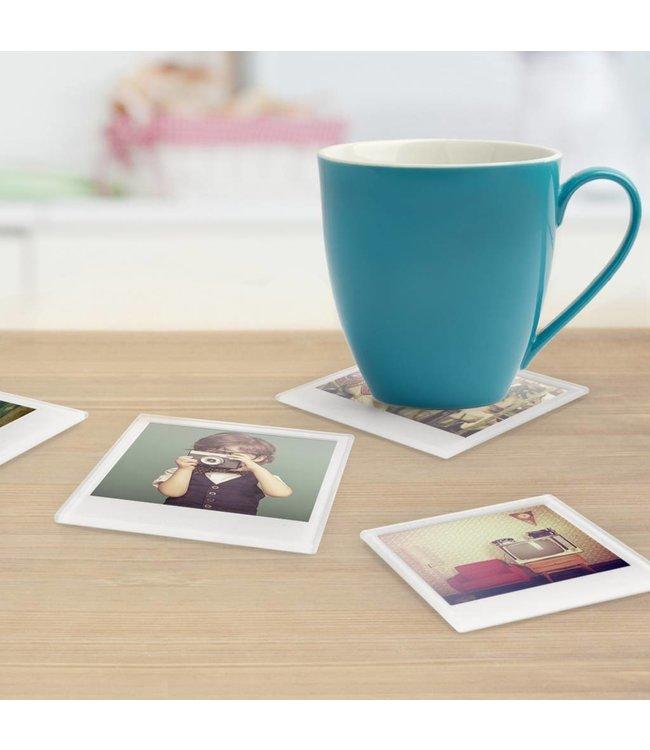 Mustard Onderzetters Polaroid 4 stuks