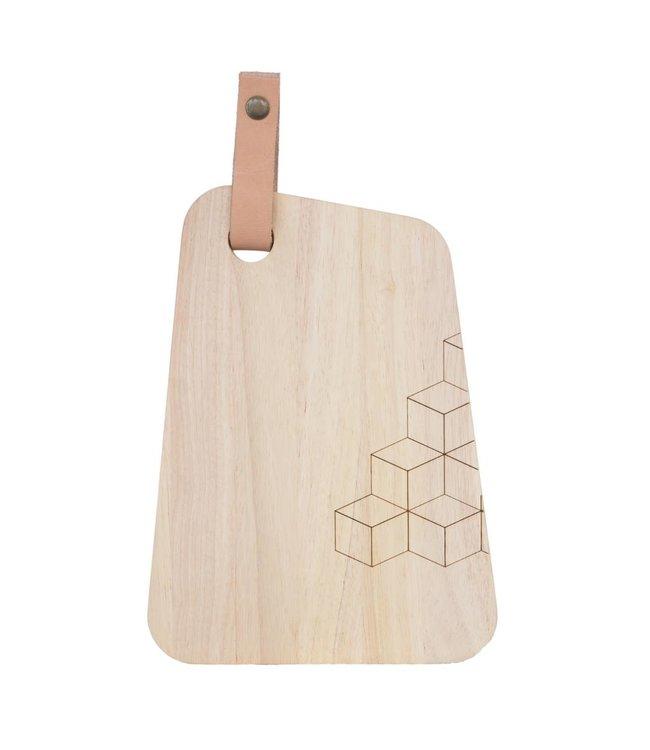 TAK Design Snijplank Organic Hout Leer M design