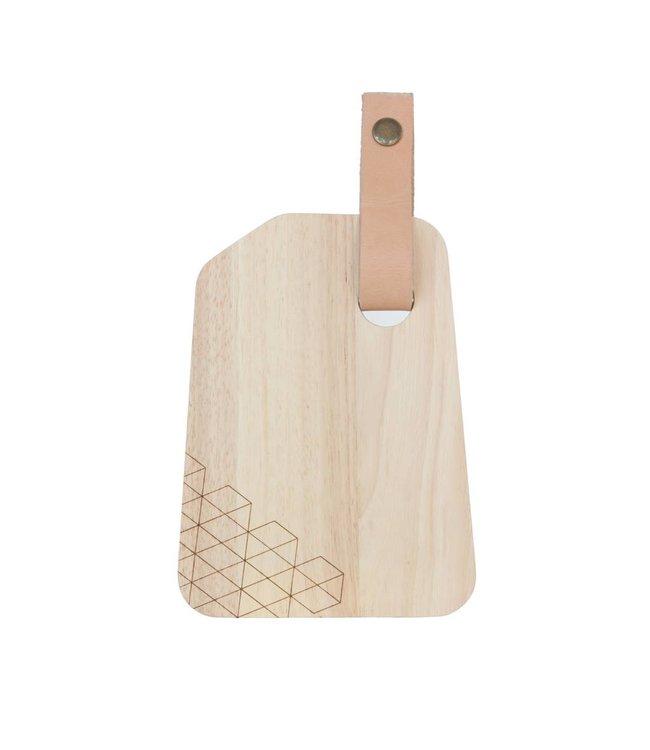 TAK Design Snijplank Organic Hout Leer S design