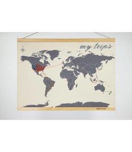 Suck UK Borduur wereldkaart