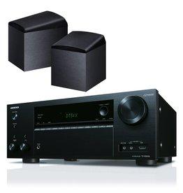 Onkyo TX-NR656 (zwart) + Onkyo SKH-410 Dolby Atmos Luidsprekers (zwart)